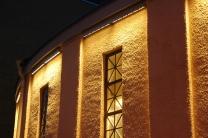 Detalj armaturplacering, fasadbelysning mot Berzeligatan